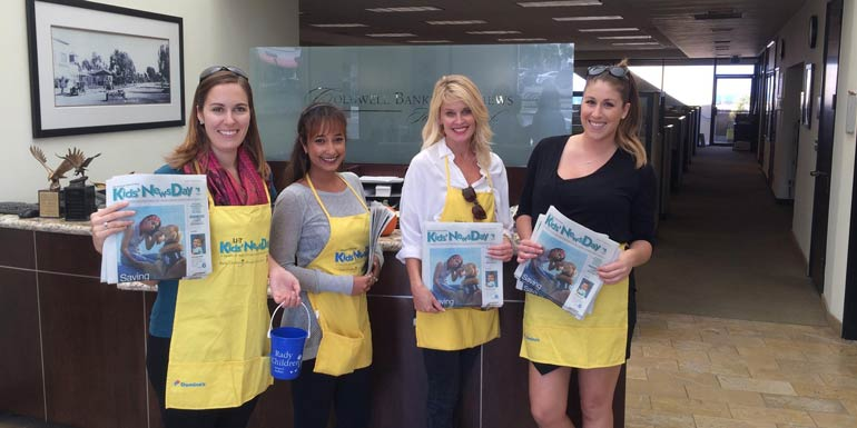 Coldwell Banker Raises Over $5,000 for Kids' NewsDay