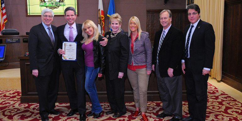 Beverly Hills Mayor Gold Presents Coldwell Banker Associate Michael J. Libow with Step Up Award
