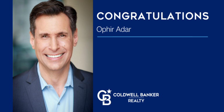 Coldwell Banker Realty Welcomes New Manager Ophir Adar